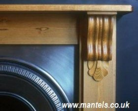 Corbel Mantel in Pine